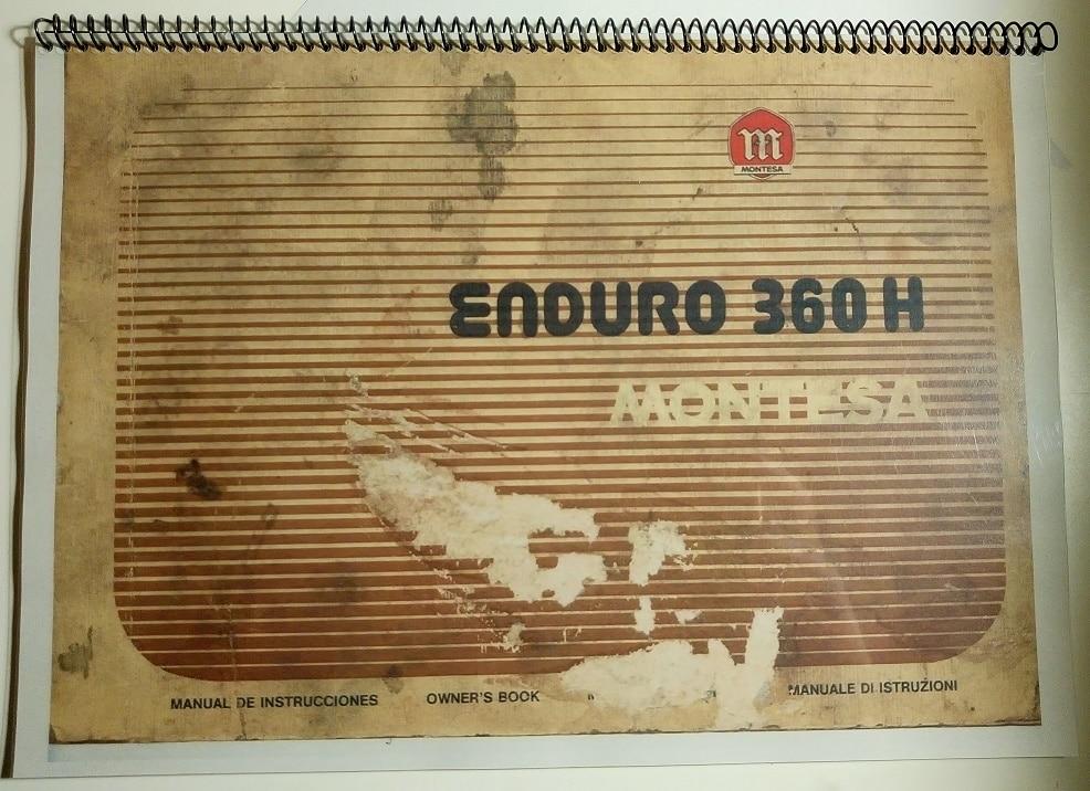 Montesa 360 H6 Enduro 67M Parts Manual PDF 25 Page Digital Manual ...