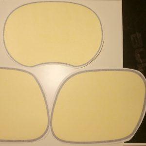Kit pegatinas tapas laterales en amarillo para Enduro y Cappra